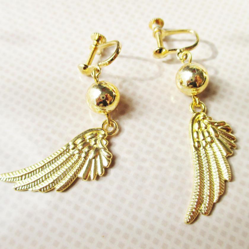 天使の翼 イヤリング