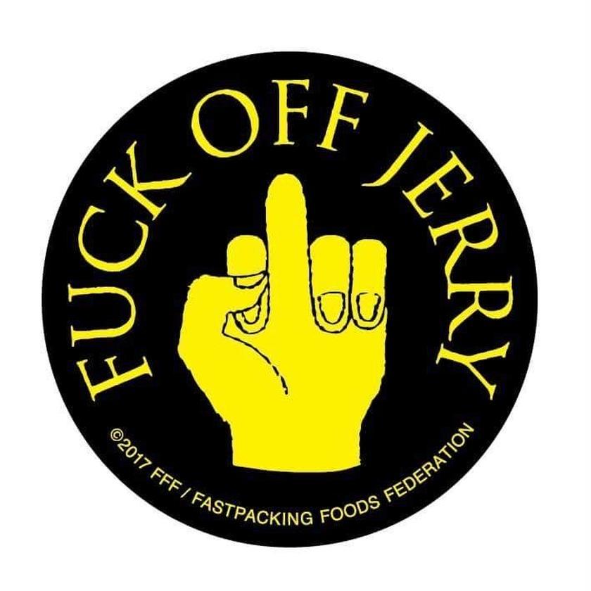 FUCK OFF JERRY sticker ( fluorescent ver.)