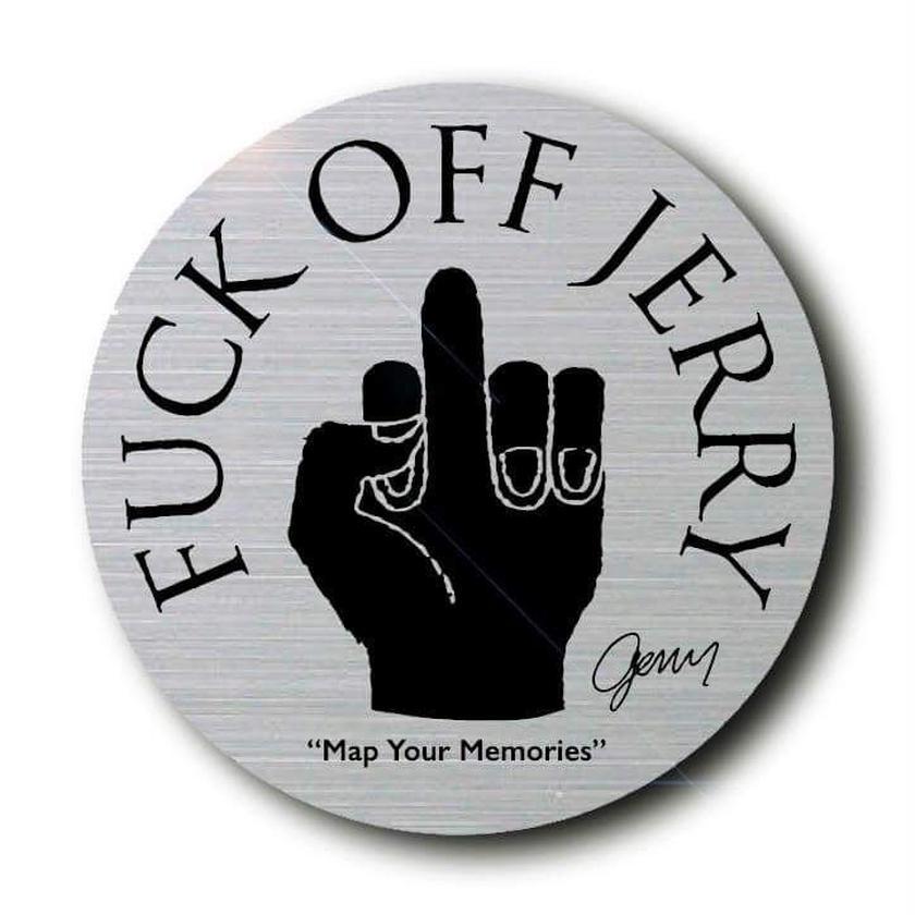 FUCK OFF JERRY sticker ( Metal  ver.)