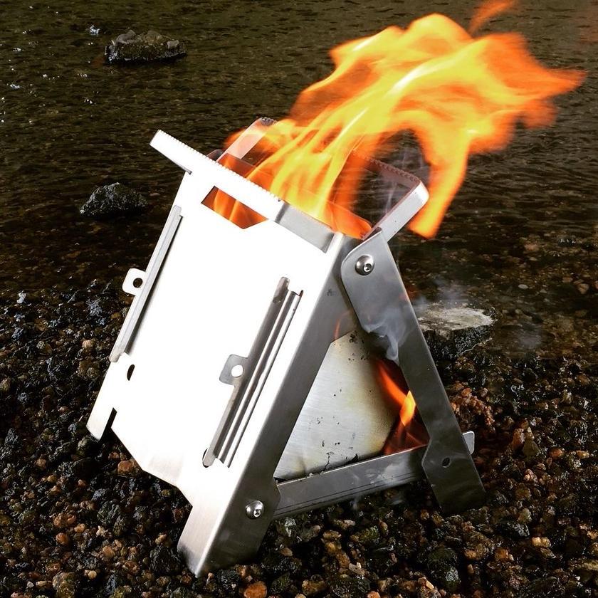 ※6月初旬入荷予定/予約受付中【送料無料】野良ストーブ ~Nora Stove~ 頑強なオールステンレス製焚き火台  BBQ キャンプ アウトドアに