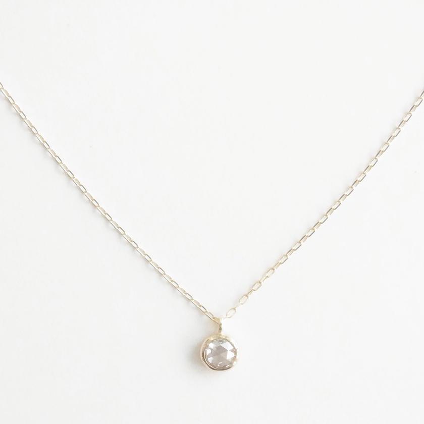 K10 Rosecut diamond necklace