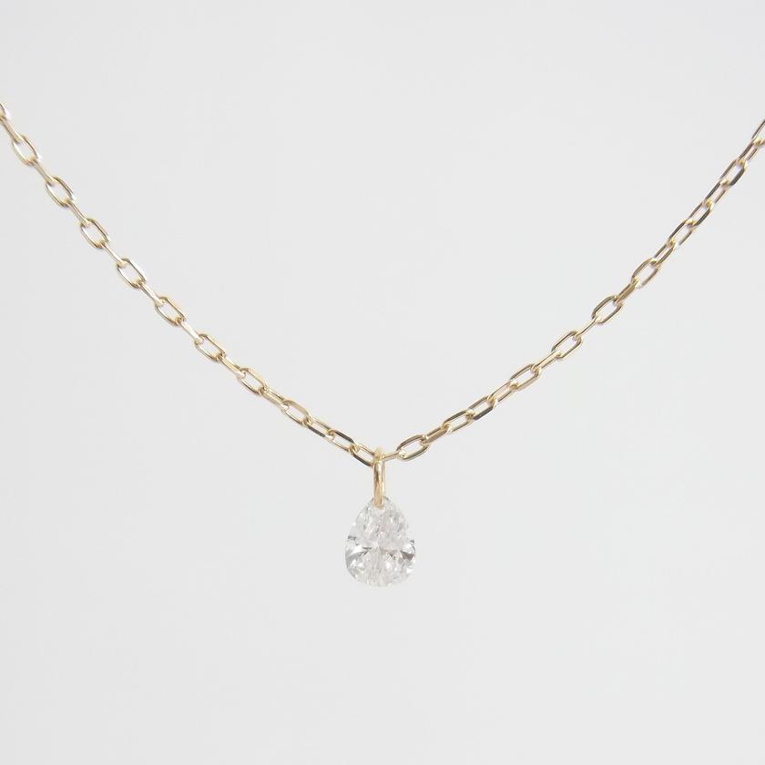 K10 drop diamond necklace