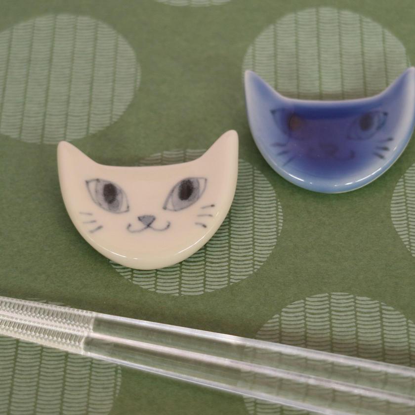 猫ペア箸置(顔)