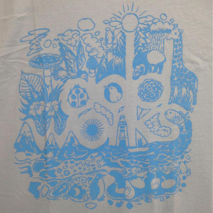 LOGO T-shirts(Light Blue×Aqua Blue)