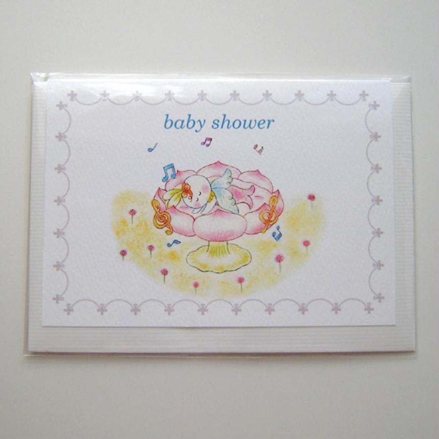 グリーティングカード&封筒セット*天使のあかちゃん