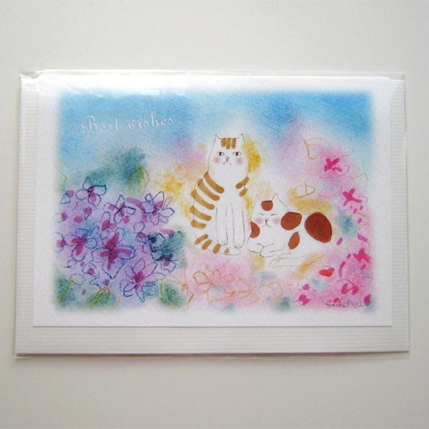 グリーティングカード&封筒セット*仲良し猫ちゃん