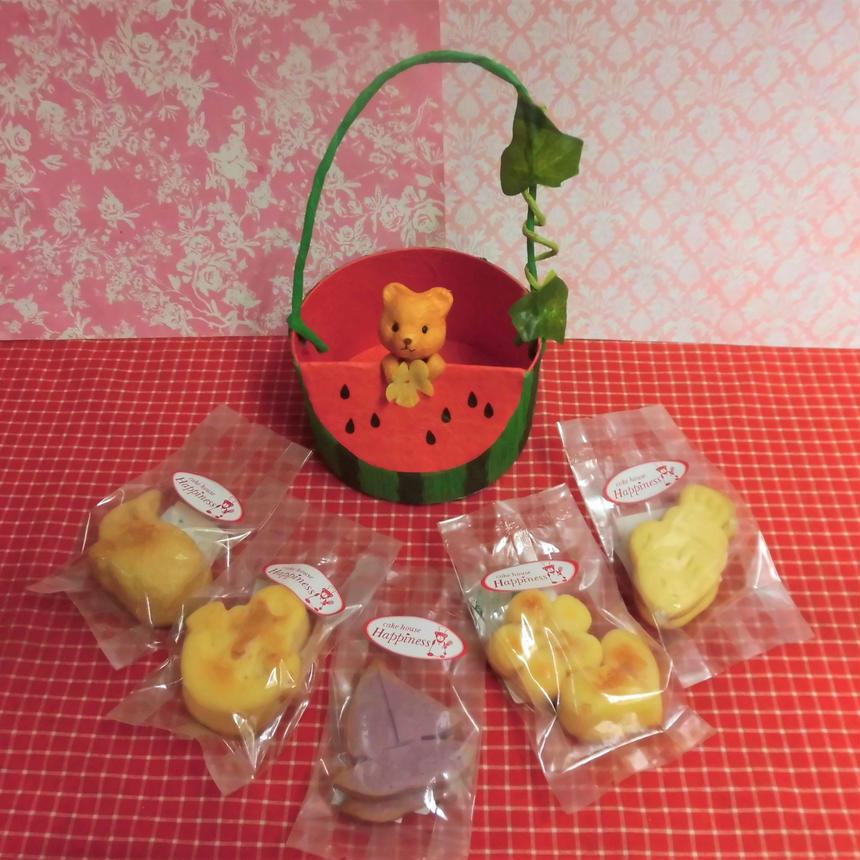 クマちゃん付きスイカケースに夏の焼き菓子5袋詰め合わせ♪