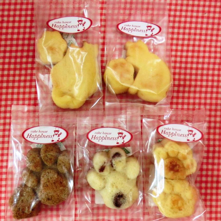 ネコの焼き菓子5種類詰め合わせ♪(=^・^=)