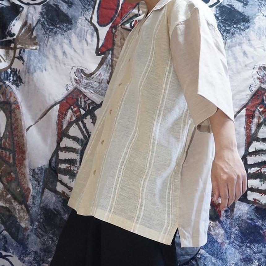 OVERSIZEオープンカラーシャツ(natural)