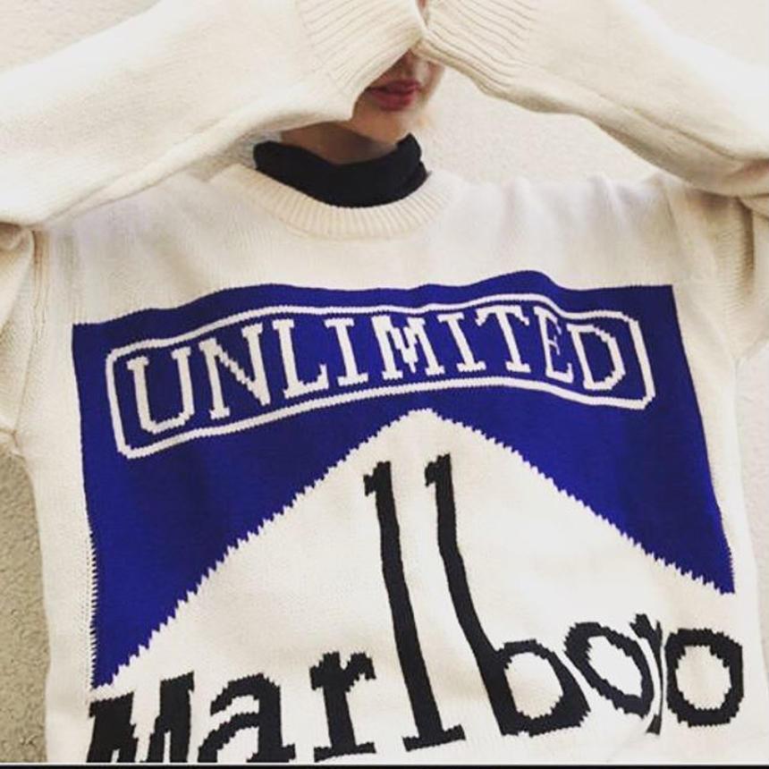 marlboroニット  white