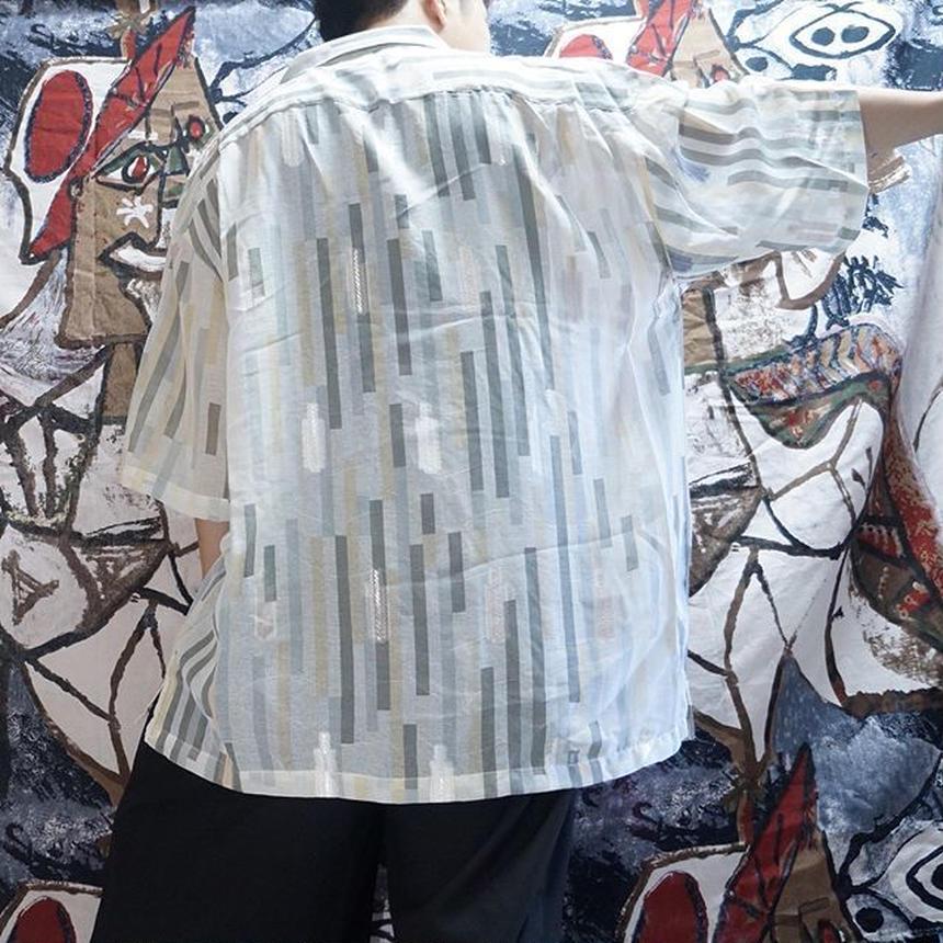 OVERSIZEストライプシャツ