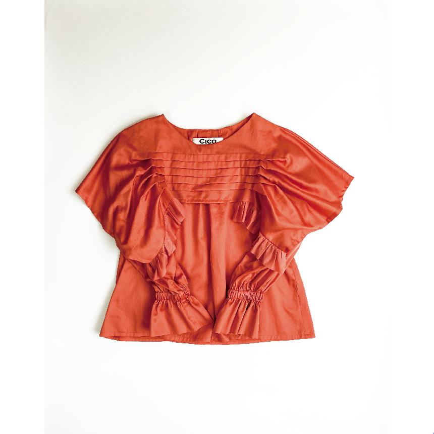 Cotten satin blouse five tack