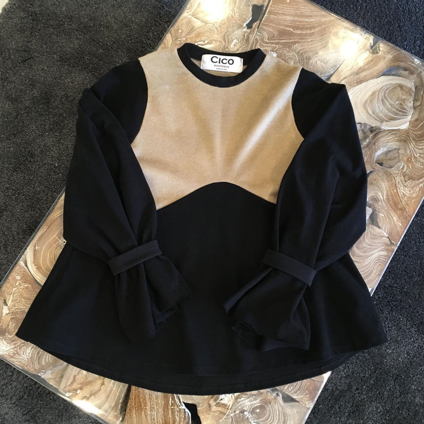 A-line switching blouse