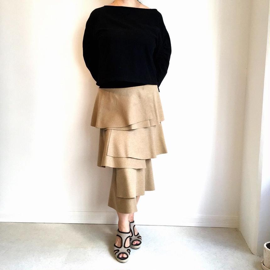 three step tight skirt