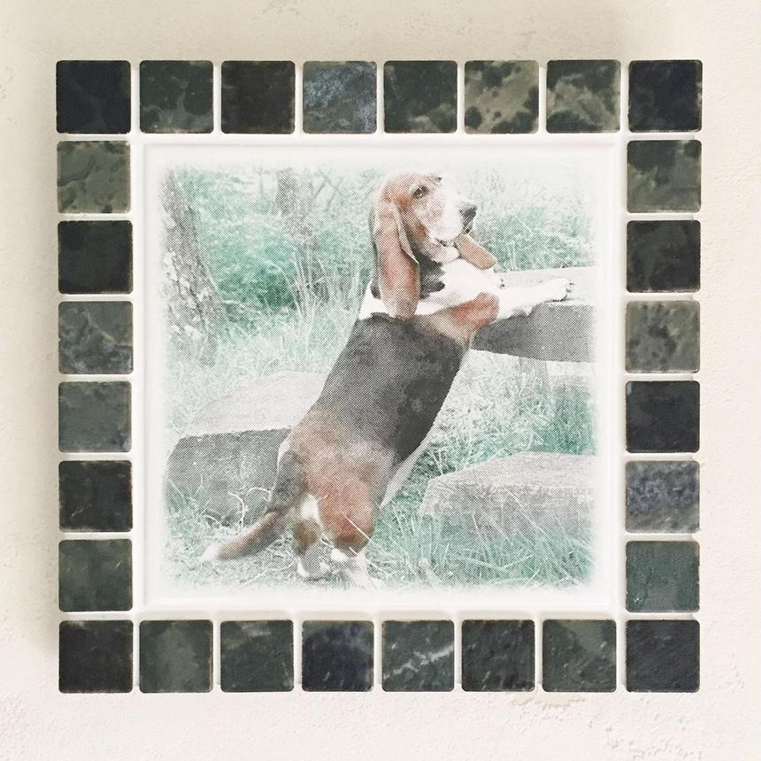 アンティークカラー/ジェードグリーン(L)◆Tile Picture Frame(L)/Antique Tone/JADE GREEN◆