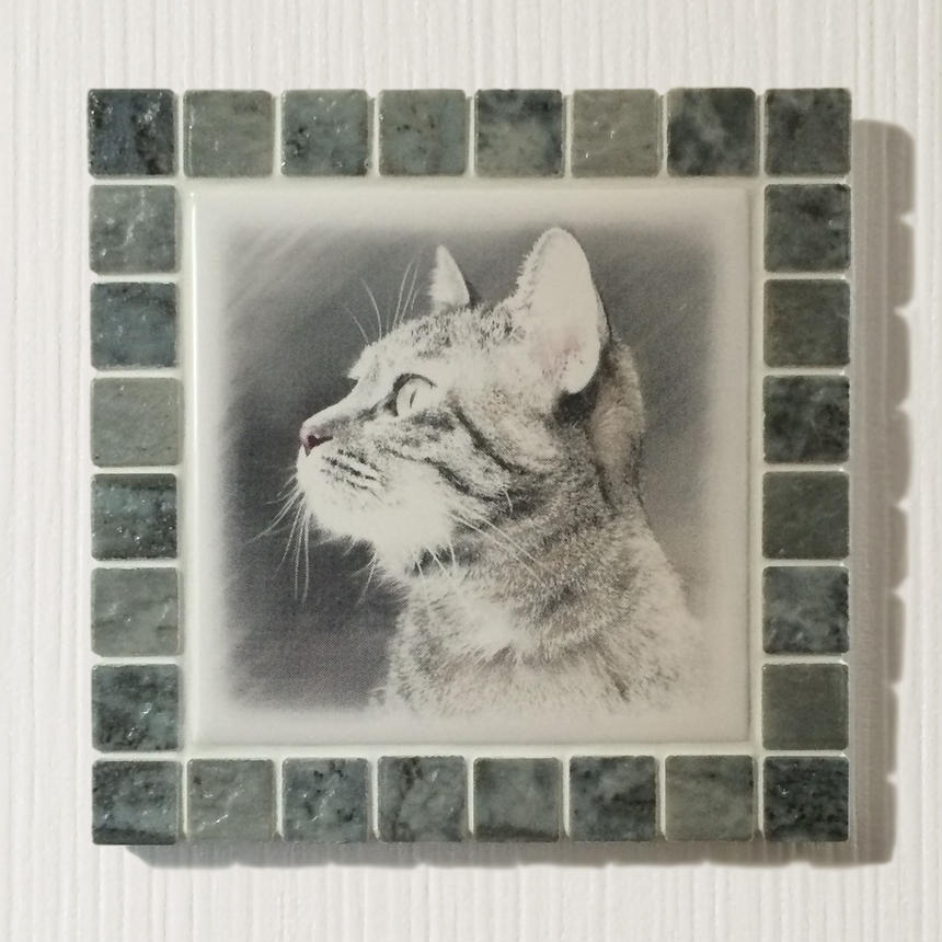 アンティークカラー/マーブルグレー(L)◆Tile Picture Frame(L)/Antique Tone/MARBLE GRAY◆