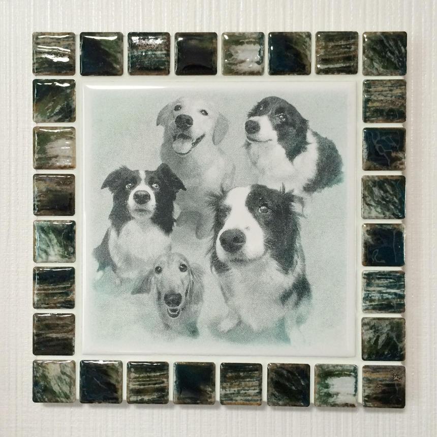 アンティークカラー/グラッシーグリーン(L)◆Tile Picture Frame(L)/Antique Tone/GRASSY GREEN◆