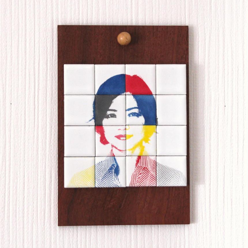 タイルモザイク ポートレート【見本】