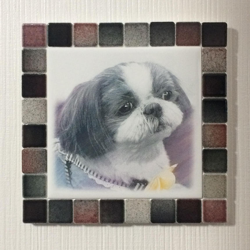 フォギーカラー/ブラックレッド(L)◆Tile Picture Frame(L)/Foggy Tone/BLACK-RED◆