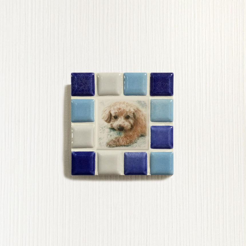 ブライトカラー/ブルー(S)◆Tile Picture Frame(S)/Bright Tone/BLUE◆