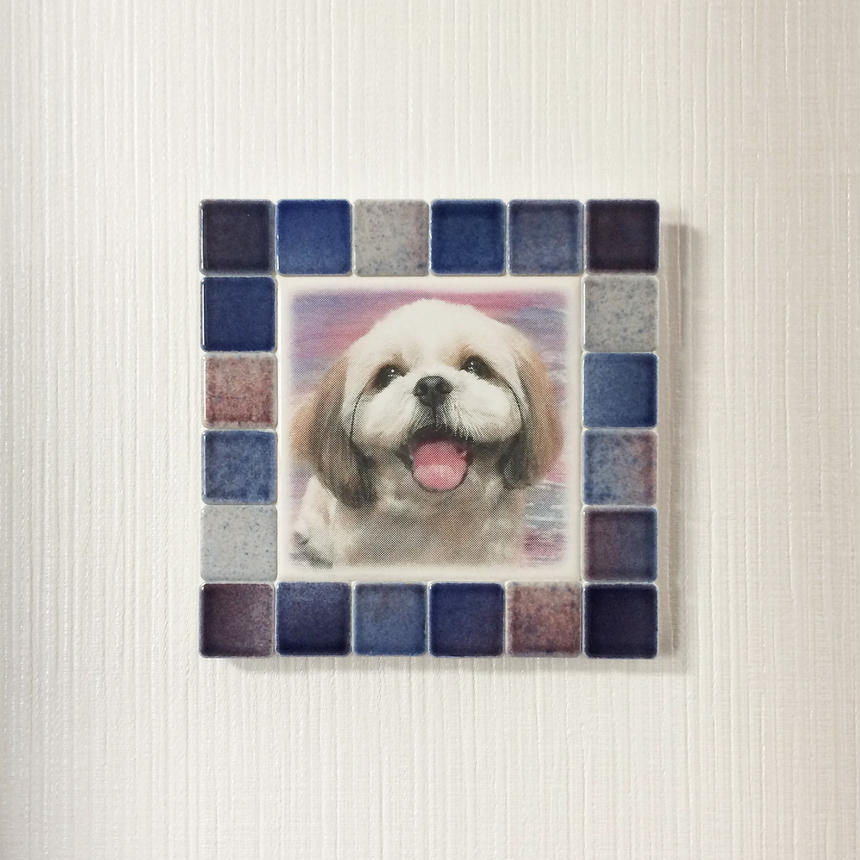 フォギーカラー/レッドブルー(M)◆Tile Picture Frame(M)/Foggy Tone/RED-BLUE◆