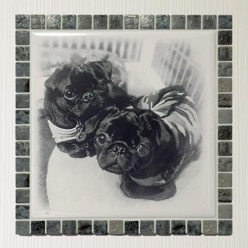 アンティークカラー/マーブルグレー(XL)◆Tile Picture Frame(XL)/Antique Tone/MARBLE GRAY◆