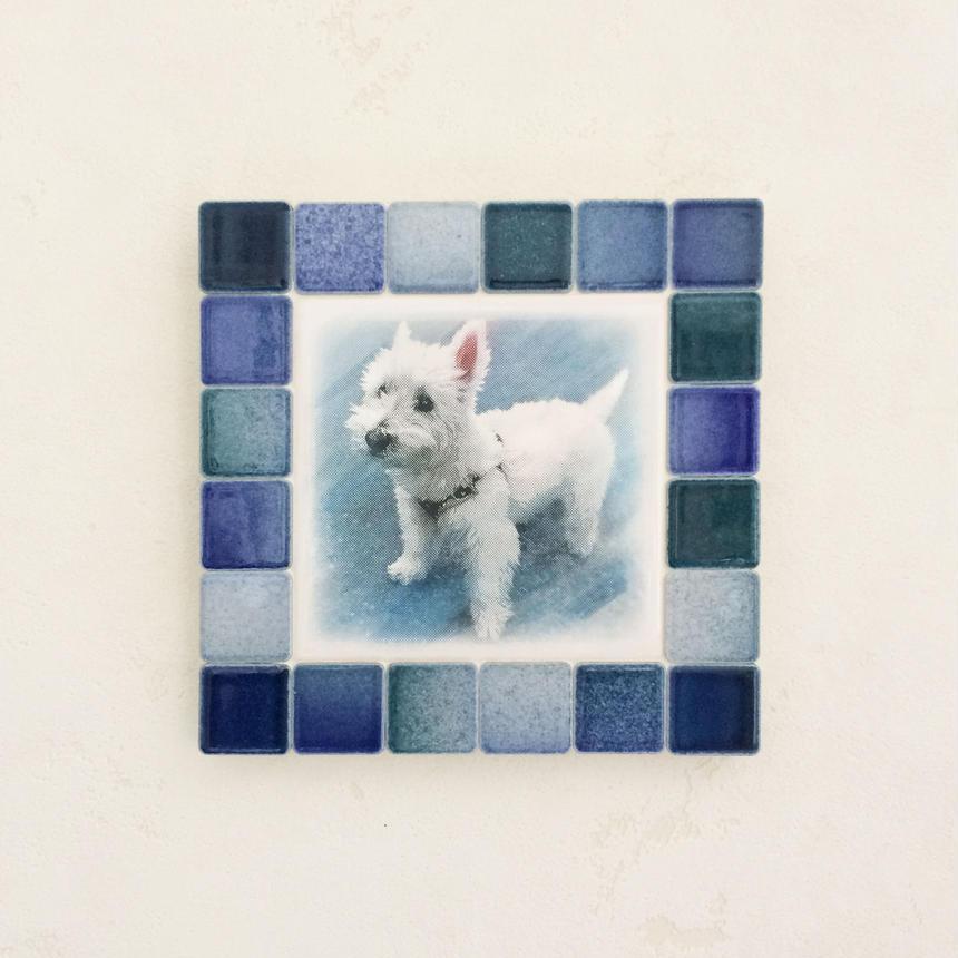 フォギーカラー/アクア(M)◆Tile Picture Frame(M)/Foggy Tone/AQUA◆