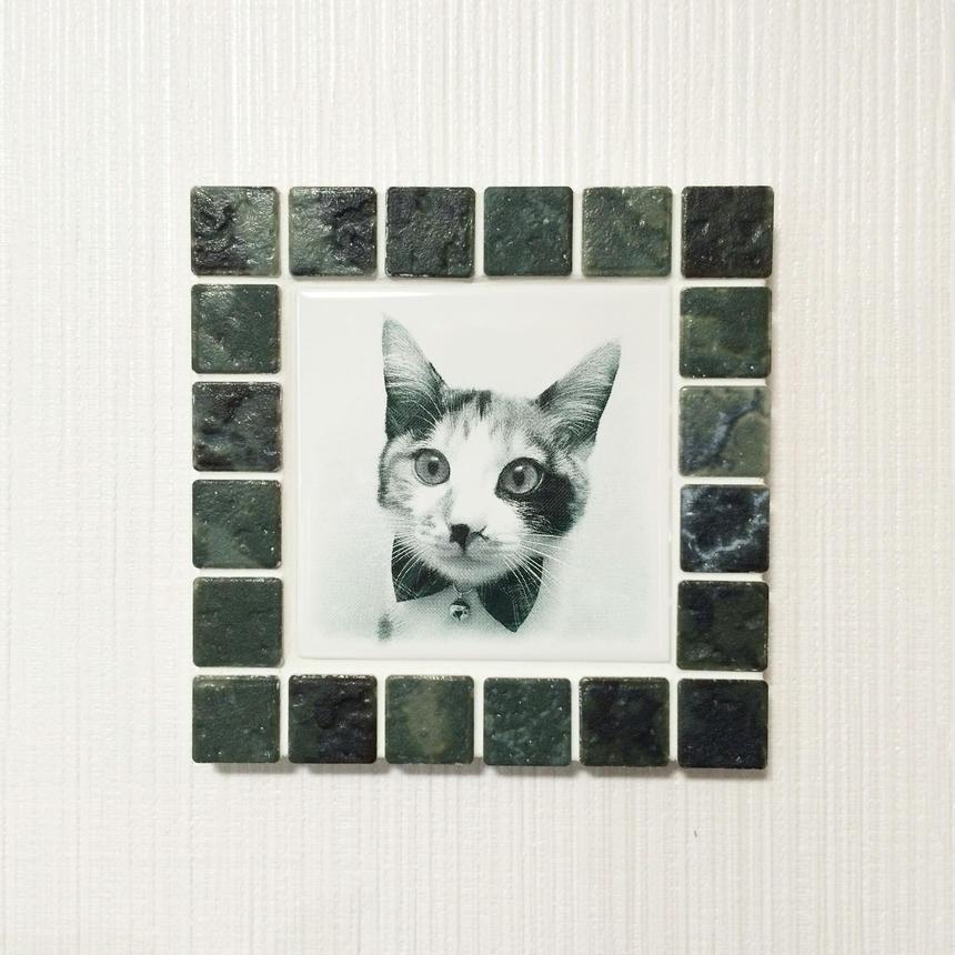 アンティークカラー/ジェードグリーン(M)◆Tile Picture Frame(M)/Antique Tone/JADE GREEN◆