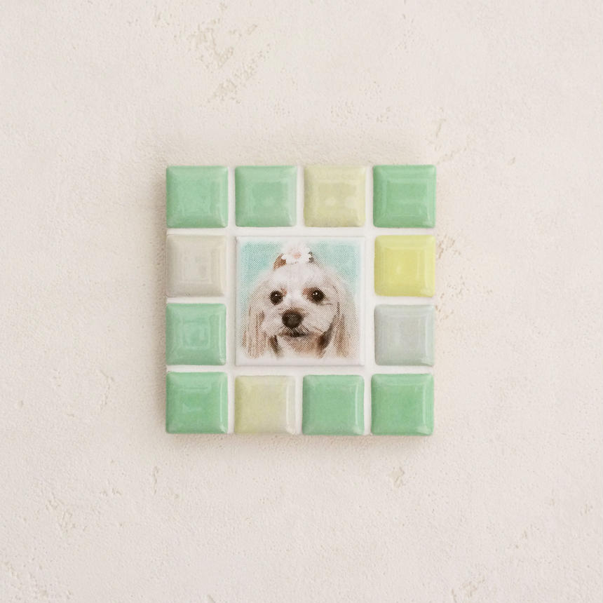 ブライトカラー/フレッシュグリーン(S)◆Tile Picture Frame(S)/Bright Tone/FRESH GREEN◆