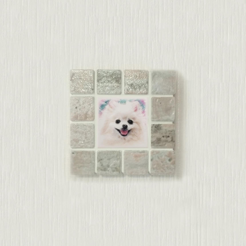 アンティークカラー/コーラル(S)◆Tile Picture Frame(S)/Antique Tone/CORAL◆