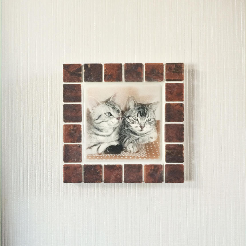 アンティークカラー/ガナシュブラウン(M)◆Tile Picture Frame(M)/Antique Tone/GANACHE BROWN◆