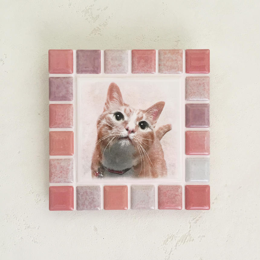 ブライトカラー/ピンク(M)◆Tile Picture Frame/Bright Tone/PINK◆