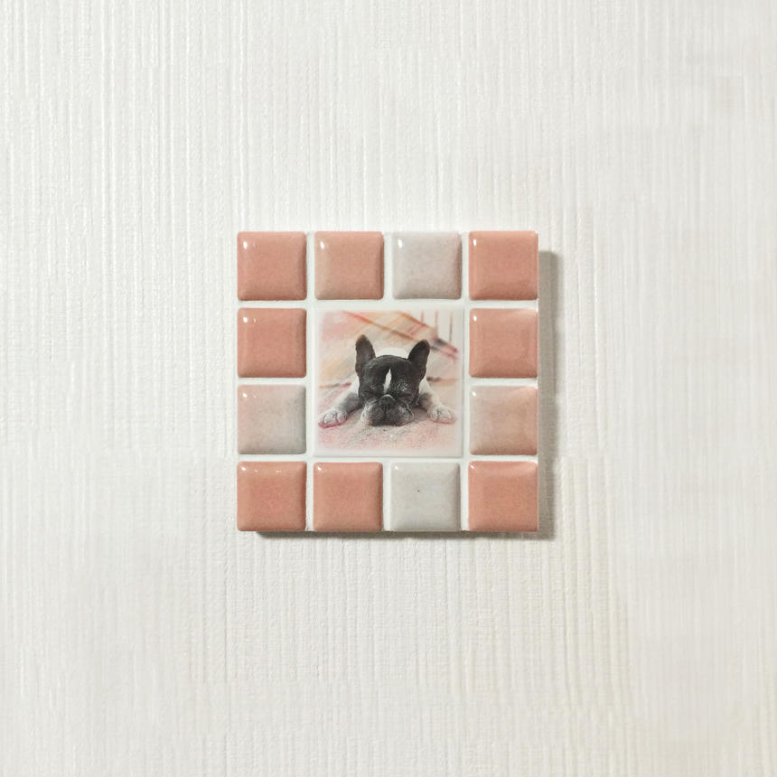 ブライトカラー/サーモンピンク(S)◆Tile Picture Frame(S)/Bright Tone/SALMON PINK◆