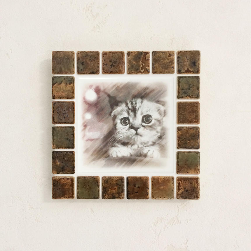アンティークカラー/ラスティーシェナ(M)◆Tile Picture Frame(M)/Antique Tone/RUSTY SIENNA◆