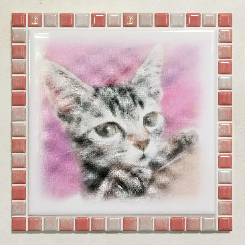 ブライトカラー/フレンチローズ(XL)◆Tile Picture Frame(XL)/Bright Tone/FRENCH ROSE◆