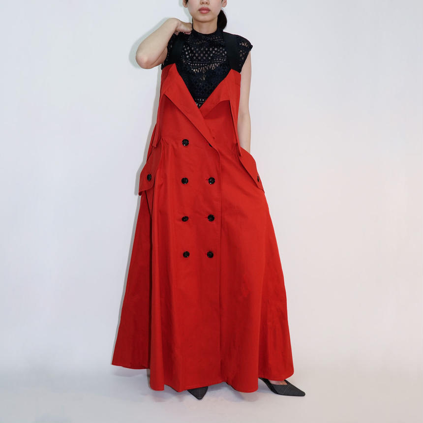 Trench Dress / RED