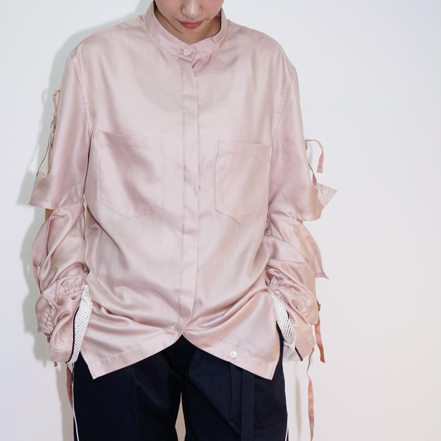 Slashed Sleeve Shirts / PNK