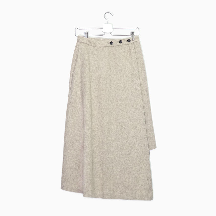 Asymmetry wrap skirt