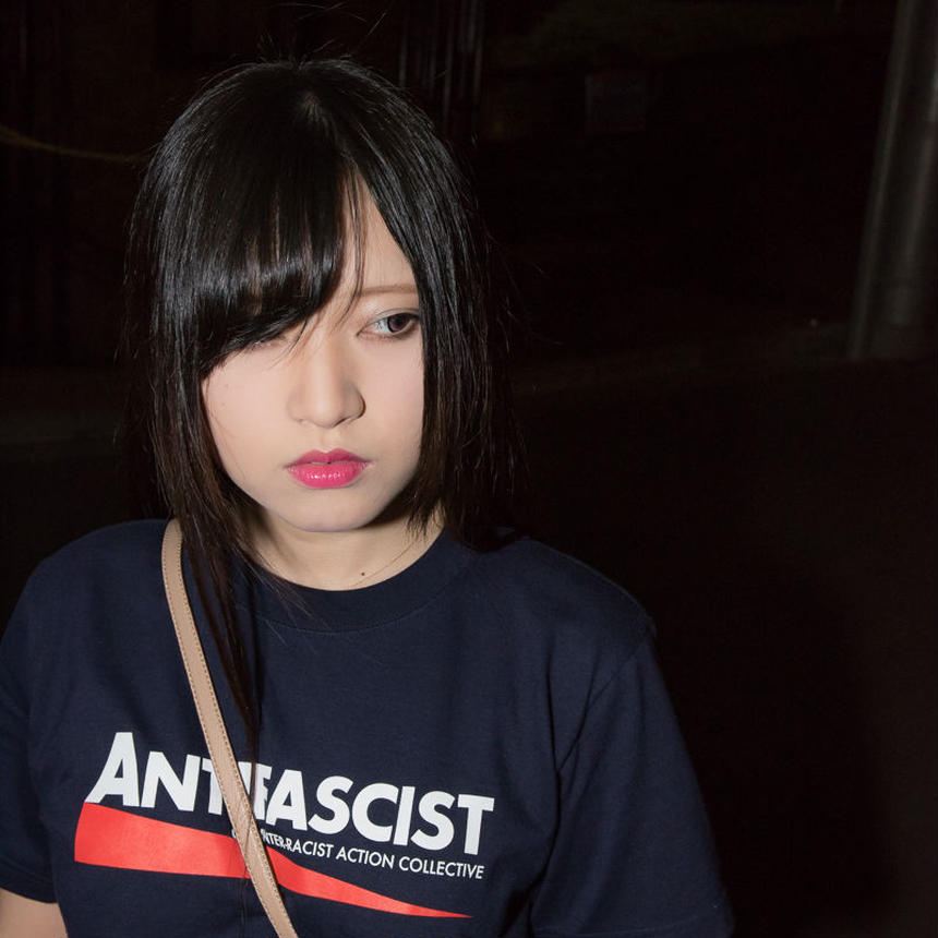 Tee: Antifascist (navy/CLUB CRAC 2 edition)
