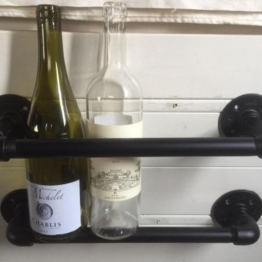 ガス管 ワインホルダー