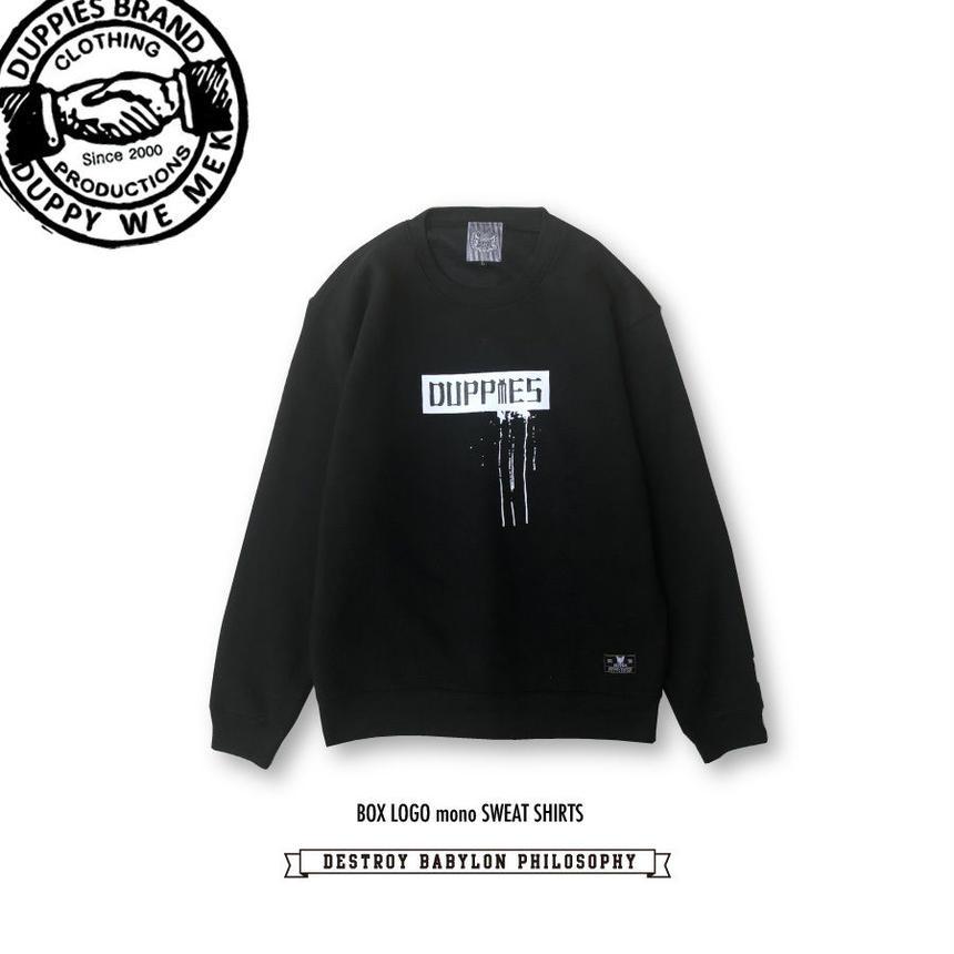 Box Logo mono / Crewneck Sweat Shirts