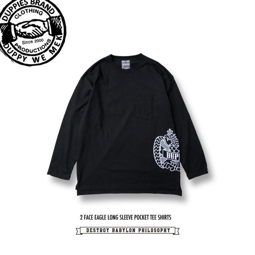 2 Face Eagle / Long Sleeve Pocket Tee Shirts