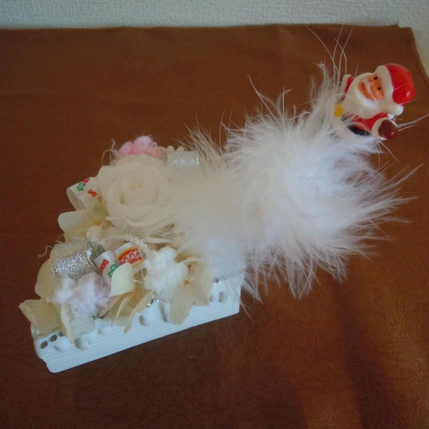 クリスマスケーキ 白 サンタ
