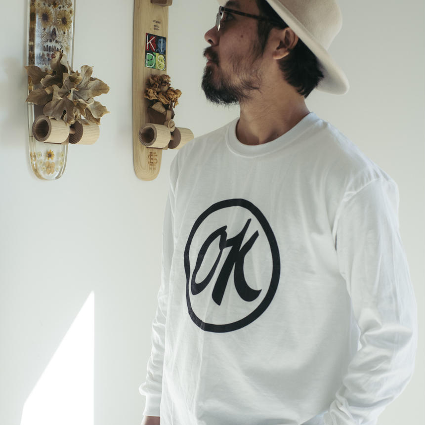FSF×SEE SEE   LONG T-SHIRT  WHT