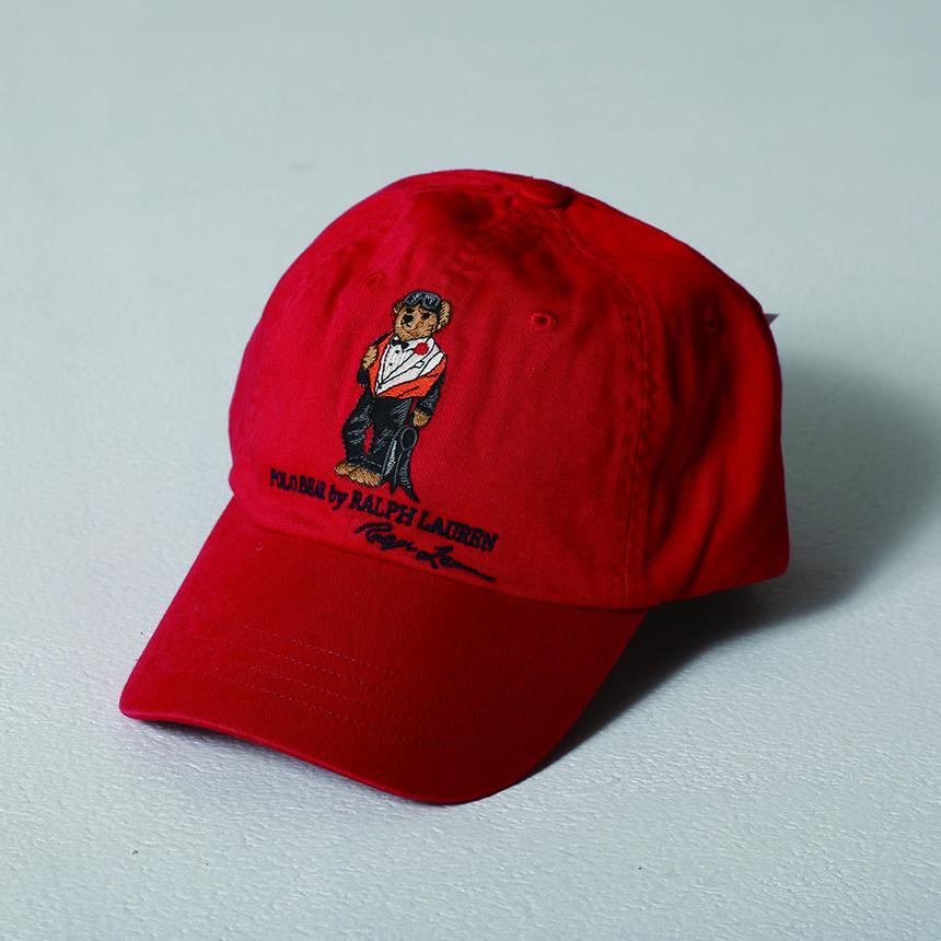 POLO RALPH LAUREN Polo Bear Chino Cap RED d178fe20ab1