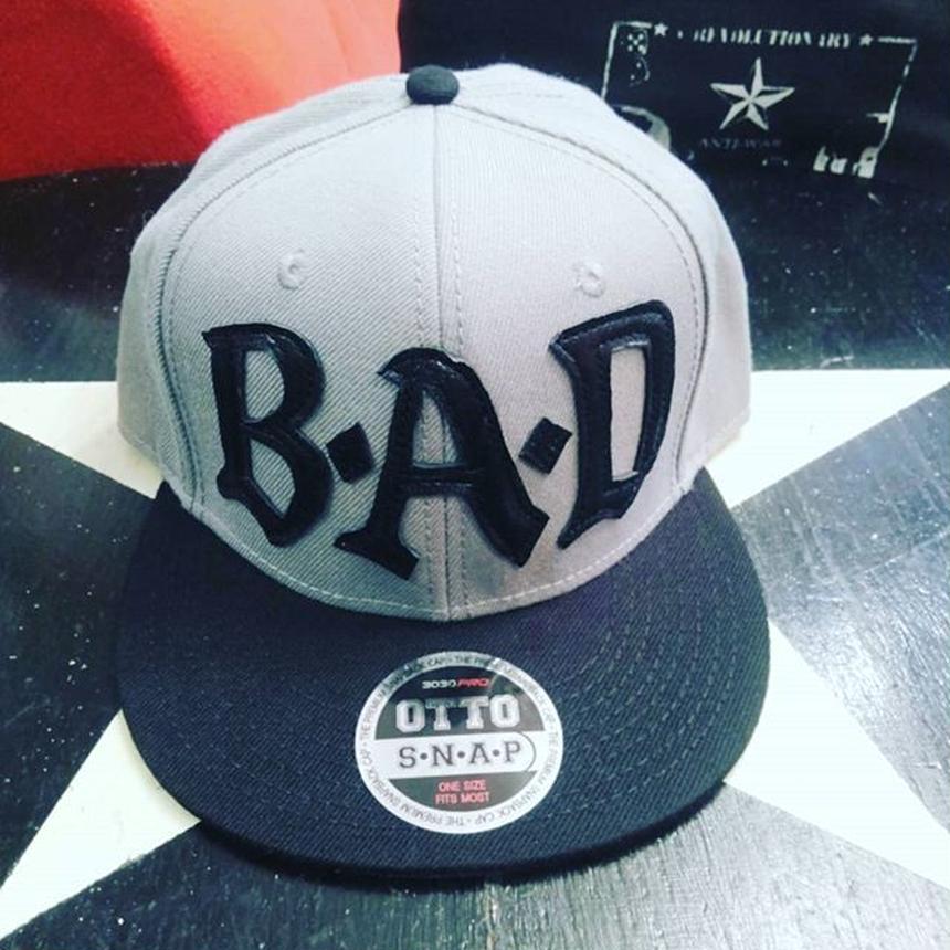 BIG AUDIO DYNAMITE /B・A・D flat visor cap/GREY×BLACK