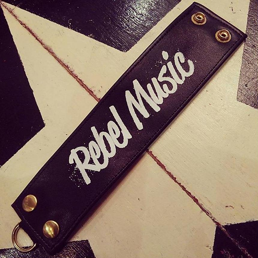 Rebel Music/leather wristband