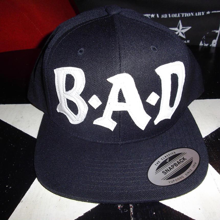 BIG AUDIO DYNAMITE /B・A・D flat visor cap/BLACK×IVORY