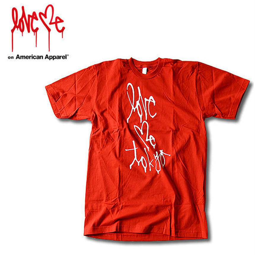【LOVE ME】 American Apparel T-shirt [Red] 100LTD