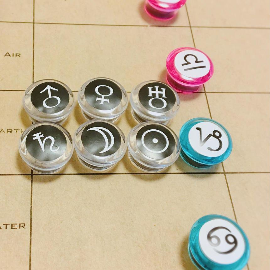 #豆12サインマグネット(シール貼り)12個セット 収納に便利な分類ボード付き!